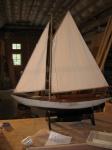 Antique model boat after rebuild.