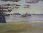 """South Meadow II"" pastel on paper"